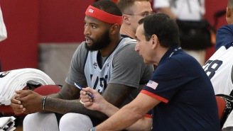 Coach K Loves That DeMarcus Cousins Is In Such Incredible Shape For Team USA