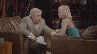 Kelly Ripa Sits Down With Jiminy Glick And Hits Him With A Surprise Makeout Session