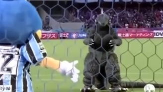 Godzilla Finally Meets His Match On A Japanese Soccer Field