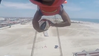 The Harlem Globetrotters' Trick Shots Grow Increasingly More Death Defying With This One From 110 Feet Up