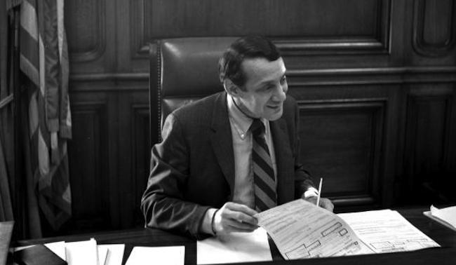 Photo by Daniel Nicoletta Harvey Milk as Mayor for a Day March 7, 1978 When Harvey was acting mayor for one of the days that Mayor George Moscone had to be out of town, it was like the marx brothers in the mayors office.. when I can in to photograph harvey that day i was greeted by harvey with an option of recieving any commission my heart desired, and in the background Jim Rivaldo some other friends Harvey's were having fun playing with the mayors paper shredding machine which was built into his huge wooden desk.