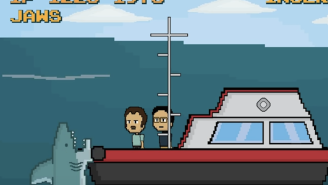 'Jaws' reimagined as an 8-bit video game