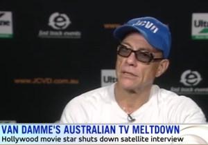 Jean-Claude Van Damme Splits When An Australian TV Interview Bored Him With Dumb Questions