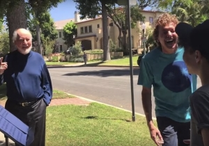 Two Fans Played The 'Star Wars' Theme Outside John Williams' House And Got A Big Surprise