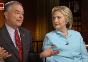 Clinton And Kaine Insist On '60 Minutes' That They Won't Roll Around In The Mud With Trump