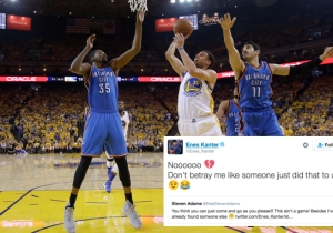 Enes Kanter Joked With Steven Adams About How Kevin Durant 'Betrayed' The Thunder