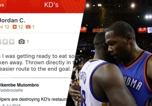 Thunder Fans Take Dead Aim At Kevin Durant With These Nasty Yelp Reviews Of His Restaurant