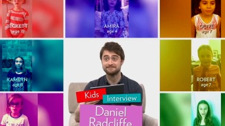 Kids ask Daniel Radcliffe to give away 'Harry Potter's' magical secrets