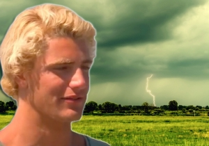 This Lucky Teen Was Almost Struck By Lightning While He Was Filming A Thunderstorm