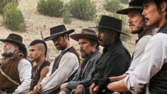 Denzel Washington and Chris Pratt plus five others = The Magnificent Seven