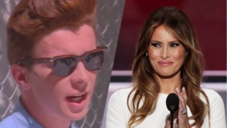 Melania Trump Also Included A Rickroll In Her Possibly Plagiarized RNC Speech