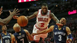 Watch Nate Robinson Dunk A Tennis Ball On A 12-Foot Rim