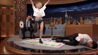Kristen Stewart Triumphs Over Jimmy Fallon In 'Jell-O Shot Twister'