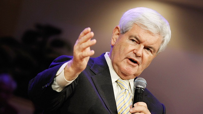 Newt Gingrich Campaigns In Florida On Final Weekend Before Primary
