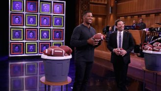 Jimmy Fallon and Michael Strahan play 'Facebreakers' on 'The Tonight Show'