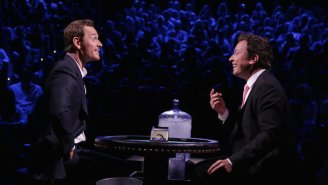 "Jimmy Fallon and Michael Fassbender play ""Frozen Blackjack"" on 'Tonight Show'"