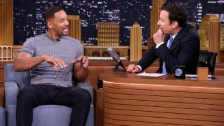 Will Smith fanboyed over the Batmobile