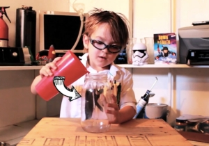 This Cute Five-Year-Old Starring In His Own Science Video Is Like A Bill Nye In The Making