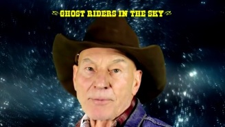 Sir Patrick Stewart Is Now Croonin' 'Cowboy Pat'