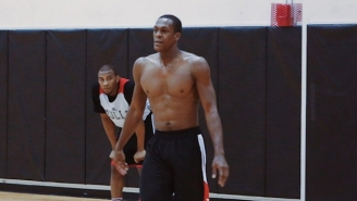 Rajon Rondo Is Getting A Jump On The Season By Practicing With The Bulls' Summer League Squad