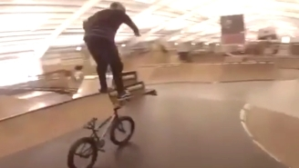 This Man Has Found The Most Dangerous And Impressive Way Humanly Possible To Ride A BMX Bike