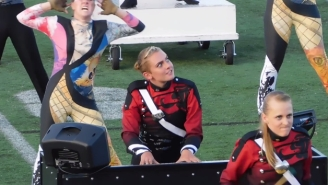 This Woman Loves Playing In The Drum And Bugle Corps More Than Anything You've Ever Loved In Your Life