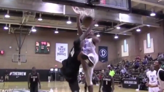 Everyone Went Nuts After This Poster Dunk At The Drew League