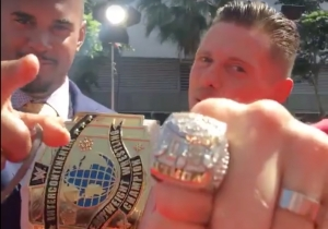 The Miz Traded His WWE Intercontinental Championship For A Super Bowl Ring On The ESPYs Red Carpet