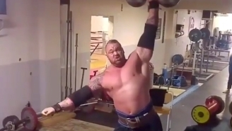 This Video Of The Mountain Lifting 200-Pound Dumbbells Is Going Viral Again