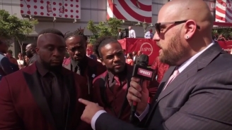The New Day Answers Our Red Carpet Questions While Playing 'Pokémon Go'