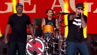 Prophets Of Rage Rocked 'Kimmel' With Their TV Debut Of 'Killing In The Name'