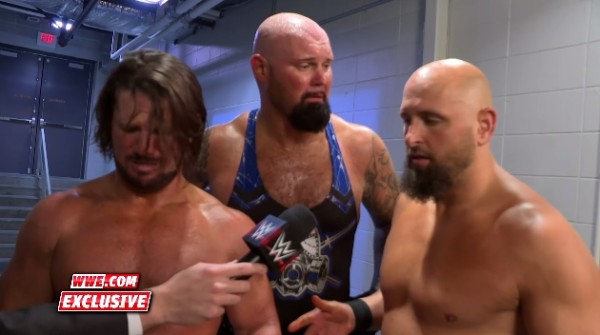 AJ Styles Luke Gallows Karl Anderson The Club WWE