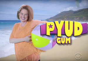 Ellie Kemper premieres fake Russian gum commercial on 'The Late Show'