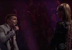 Watch Cara Delevingne and Dave Franco rap battle on 'The Late Late Show'