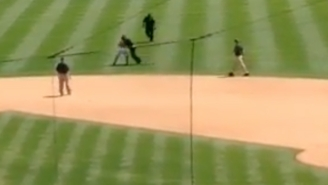 This Man Learned A Valuable Lesson From A Security Guard After Running On The Field