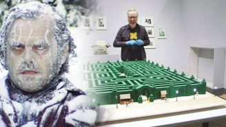 Adam Savage's Model Of 'The Shining's' Overlook Hotel Maze Is Kubrick-Level Detailed