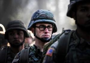 Why does Joseph Gordon-Levitt sound like Buffalo Bill in the Snowden Trailer?