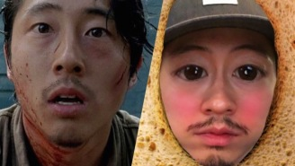 Steven Yeun Discovering Snapchat Filters Is Almost More Entertaining Than 'The Walking Dead'
