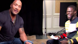 The Rock And Kevin Hart Crack Up Doing Over The Top Impressions Of Each Other