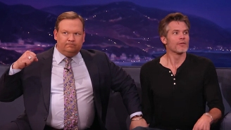 Timothy Olyphant And Conan O'Brien Pull Back The Curtain To Prove TV Is All A Big Lie