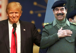 Donald Trump's '60 Minutes' Chair Takes Priceless Inspiration From Saddam Hussein