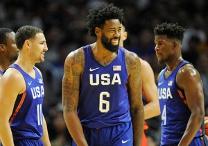 KD, Carmelo, And Team USA Roasted DeAndre Jordan After He Airballed A Free Throw
