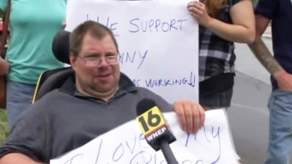 A Community Protests Walmart For Firing A Disabled Employee Who Worked There For 20 Years