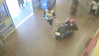 Watch A Walmart Shoplifter Use A Motorized Scooter To Make The Slowest Getaway Ever