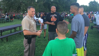 Black Lives Matter Protesters And Some Police Officers Had A Joint BBQ