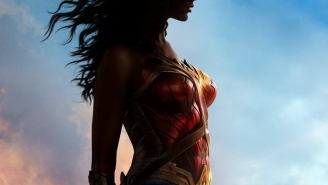 Wonder Woman's looking colorful on her very first one-sheet