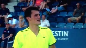 A U.S. Open Tennis Player Yelled 'Suck My Balls' At A Heckling Spectator