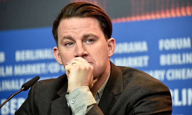 Channing Tatum in deep thought