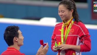 A Chinese Diver Was Stunned By A Marriage Proposal After Winning A Silver Medal