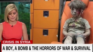 CNN's Kate Boulduan Fights Back Tears While Discussing The Distressing Image Of A Child In Syria